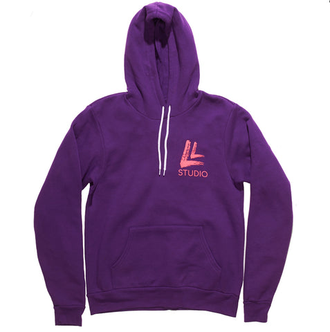 Upper East Beast Unisex Hoodie Purple