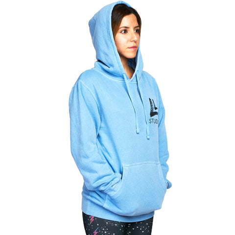 Upper East Beast Unisex Hoodie Light Blue