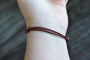 Load image into Gallery viewer, Name Adjustable Leather Bracelet