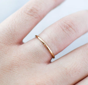 Load image into Gallery viewer, Dainty Minimalist 14k Gold Filled Ring