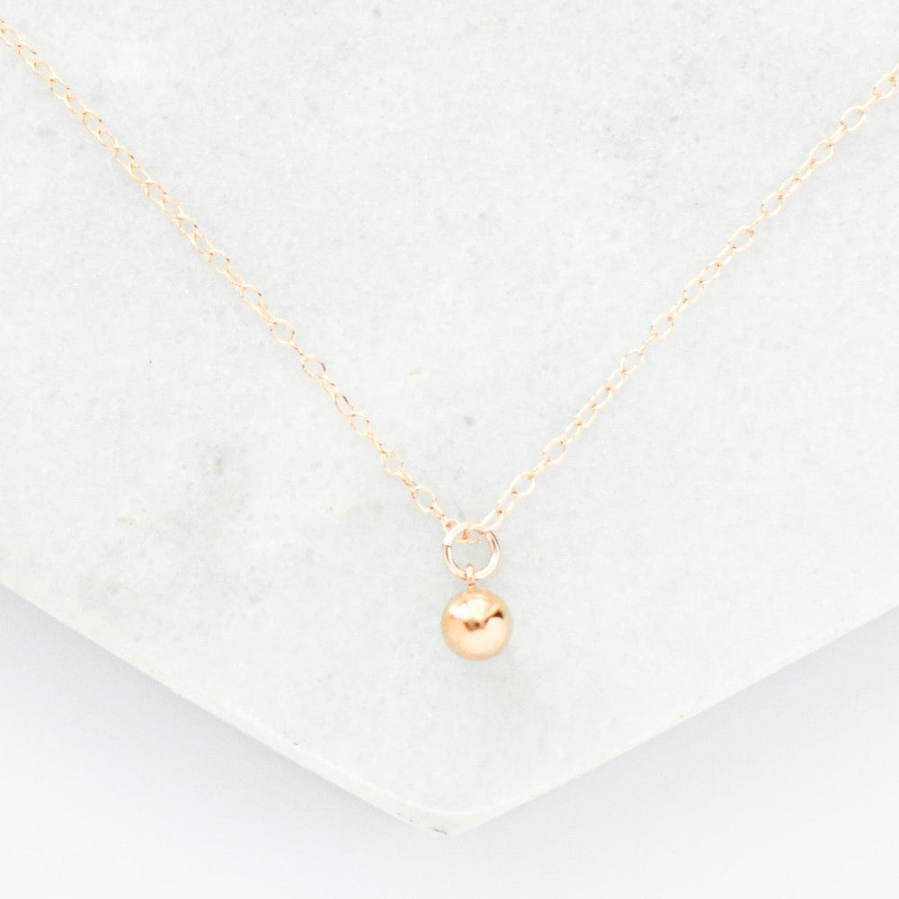 Drop 14k Gold, Rose Gold, Sterling Silver Necklace
