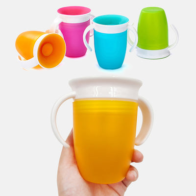 Leakproof Magic Water Feeding Bottle Double Handle Flip