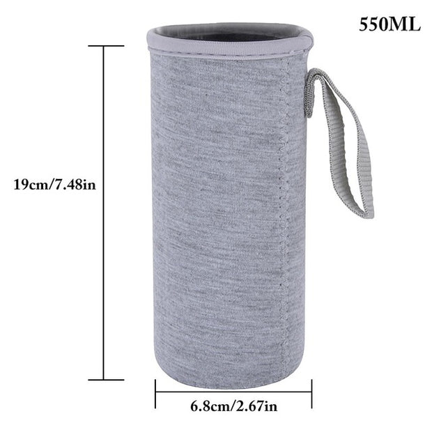 Sport Water Bottle Cover Neoprene Insulator Sleeve Bag Case Pouch