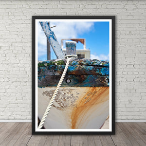 Weathered Fishing Boat Bow - Instant Printable Download