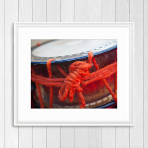 Red Eisa Drum - Prints and Wall Art