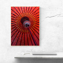 Load image into Gallery viewer, Red Paper Umbrella - Prints and Wall Art