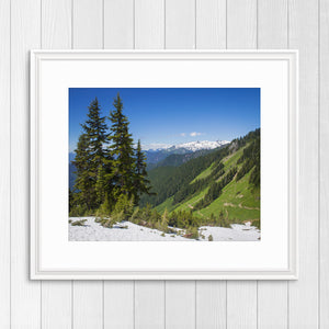 Cascade Mountains - Instant Printable Download