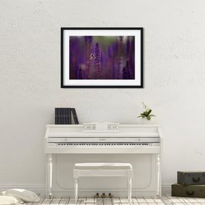 Bee on Purple Sage - Instant Printable Download