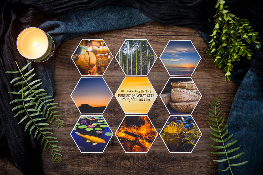 Aidyn Mid Collection of Hexagon Photo Prints
