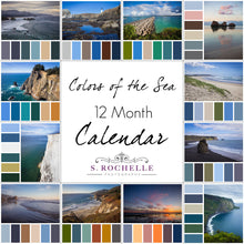 Load image into Gallery viewer, Colors of the Sea 12 Month Calendar With Custom Start Date