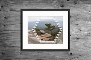Demi Geometric Landscape Artwork Print