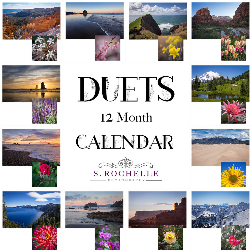 Duets 12 Month Calendar With Custom Start Date