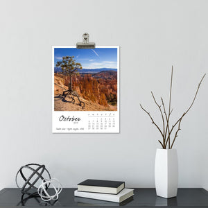 Fantastic Trees 12 Month Calendar With Custom Start Date