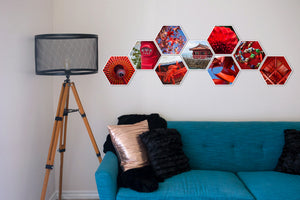 Rory Mid Collection of Hexagon Photo Prints