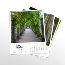 Load image into Gallery viewer, Seasons of Green 12 Month Calendar With Custom Start Date
