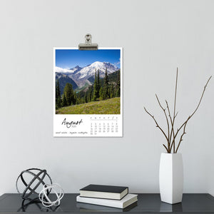 Summits and Seas 12 Month Calendar With Custom Start Date