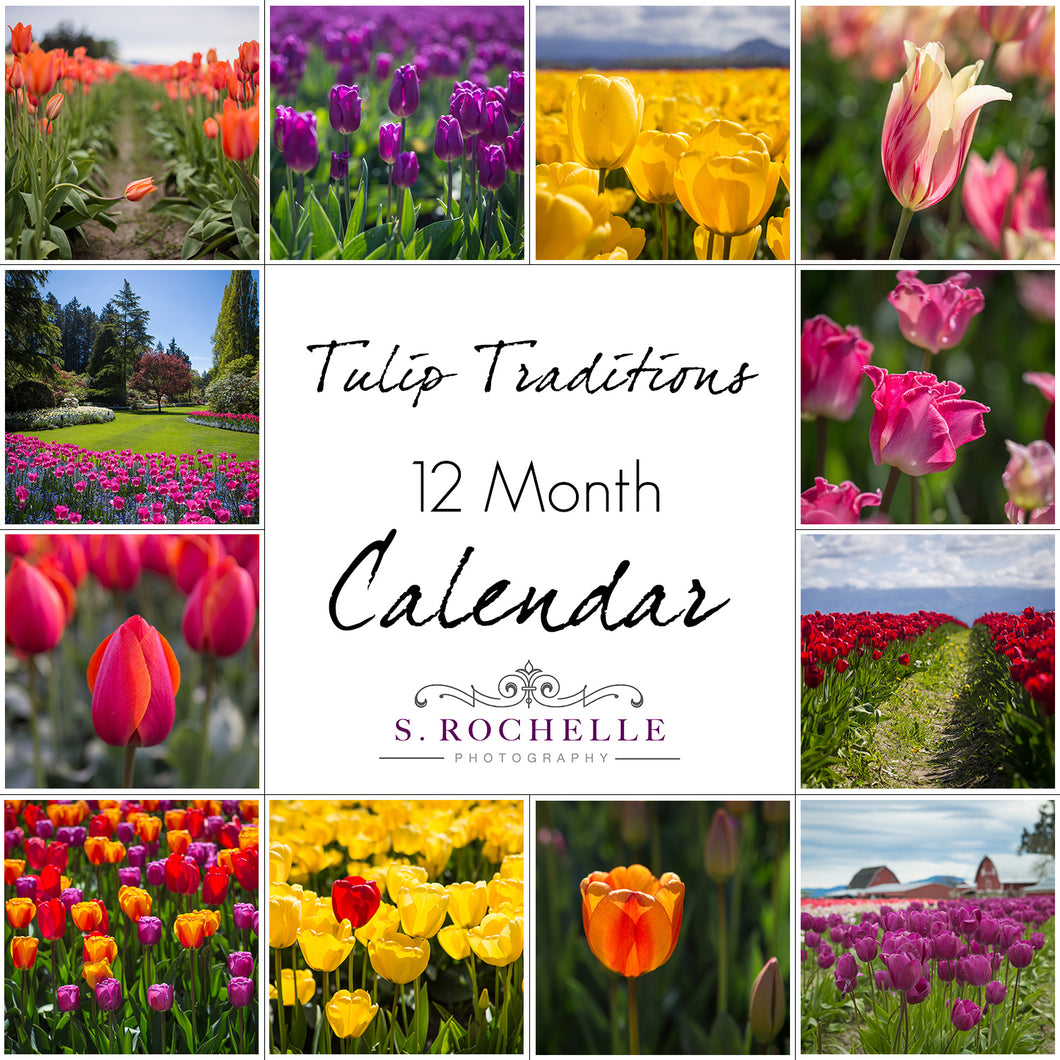 Tulip Traditions 12 Month Calendar With Custom Start Date