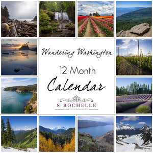 Wandering Washington 12 Month Calendar With Custom Start Date