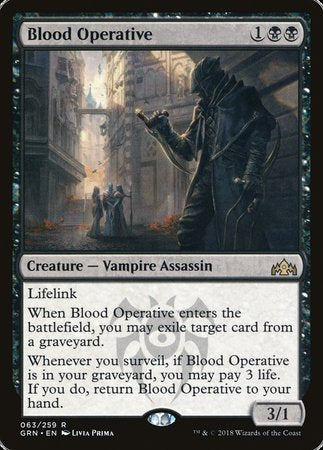 Blood Operative [Guilds of Ravnica] | Gopher Mafia Games
