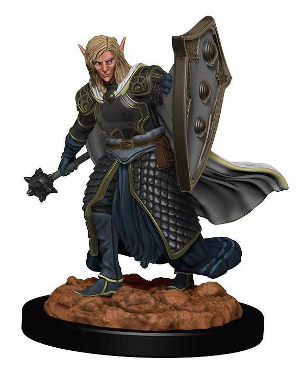 D&D Icons of the Realms Premium Miniatures: Elf Male Cleric | Gopher Mafia Games