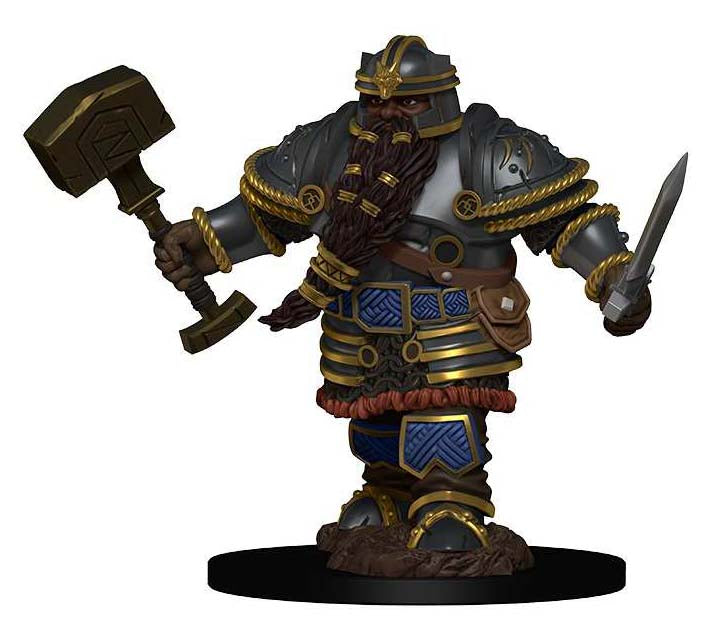 D&D Icons of the Realms Premium Miniatures: Dwarf Male Fighter | Gopher Mafia Games