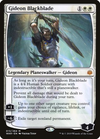 Gideon Blackblade [War of the Spark] | Gopher Mafia Games