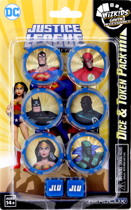 Marvel Heroclix: Justice League Dice and Token Pack | Gopher Mafia Games
