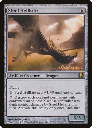 Steel Hellkite [Scars of Mirrodin Promos] | Gopher Mafia Games
