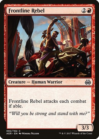 Frontline Rebel [Aether Revolt] | Gopher Mafia Games