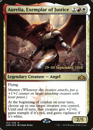 Aurelia, Exemplar of Justice [Guilds of Ravnica Promos] | Gopher Mafia Games