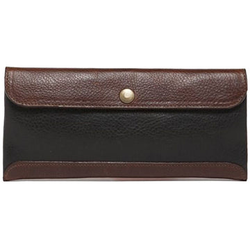 Moore & Giles Smith Travel Envelope, Titan Milled Brown and Gunmetal - upscaleman.myshopify.com