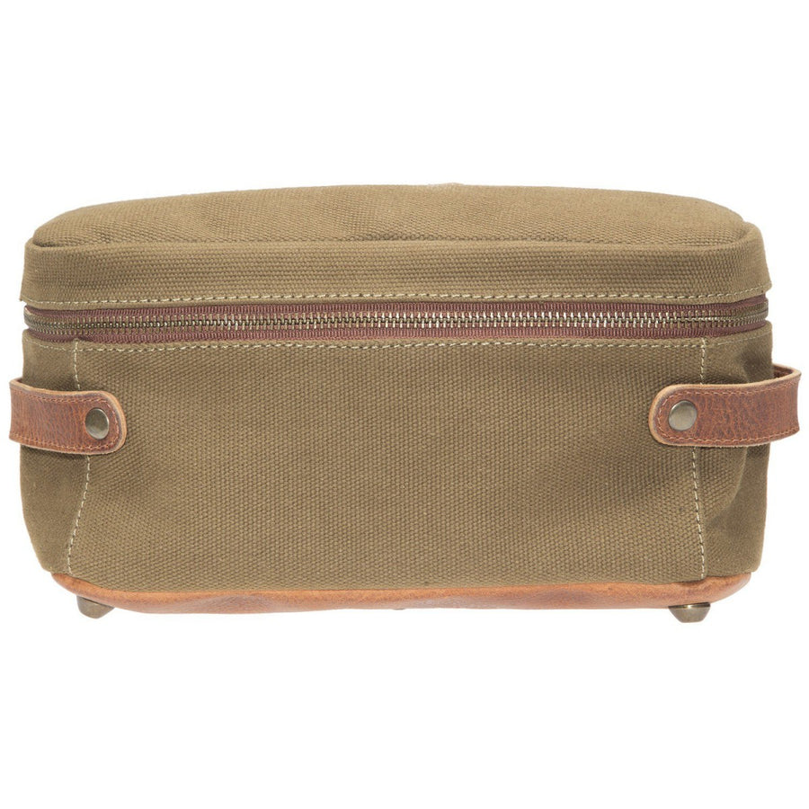 Will Leather Goods Desmond Canvas and Leather Travel Case, Tobacco and Saddle