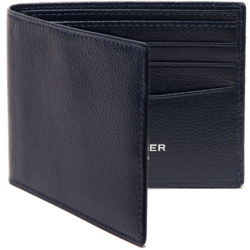 Ettinger Capra Billfold Wallet with 6 Credit Card Slots, Marine Blue