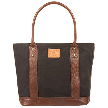 Will Leather Goods Medium Women's Canvas Leather Getaway Tote - upscaleman.myshopify.com