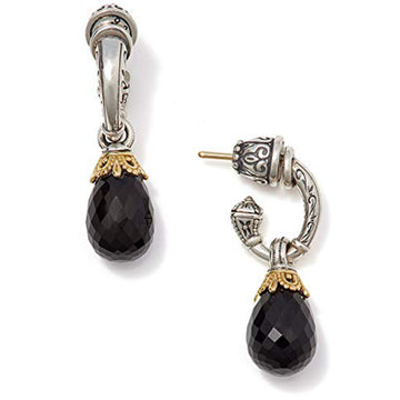 Konstantino Women's Sterling Silver & 18K Gold Black Onyx Dangle Earrings