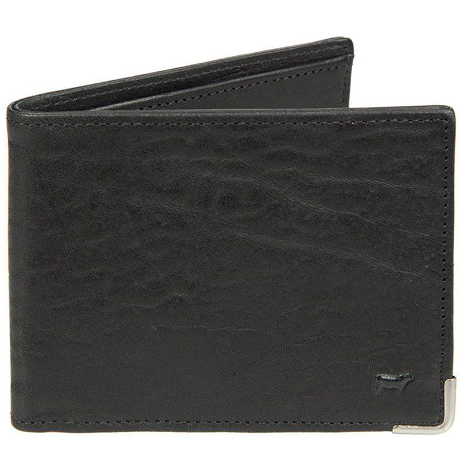 Will Leather Goods The Magnate Vegetable Tanned Leather Wallet, Black