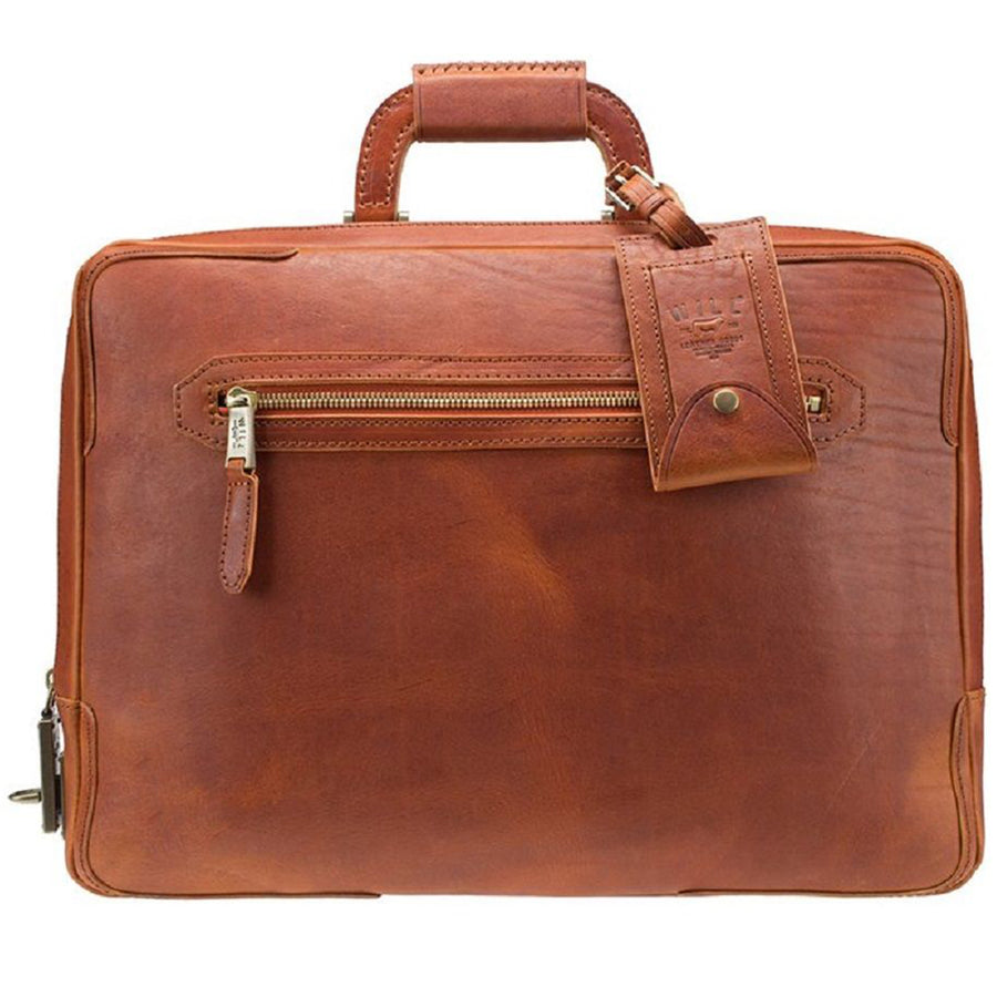 Will Leather Goods William Collection The Continental Italian Leather Briefcase, Whiskey