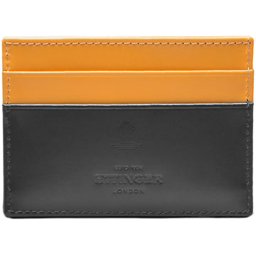 Ettinger Mens Sterling Flat Credit Card Case (Grey/London Tan)