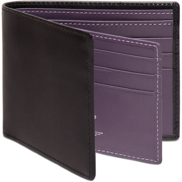 Ettinger Sterling Collection Billfold with 12 Credit Card Slips, Black/Purple