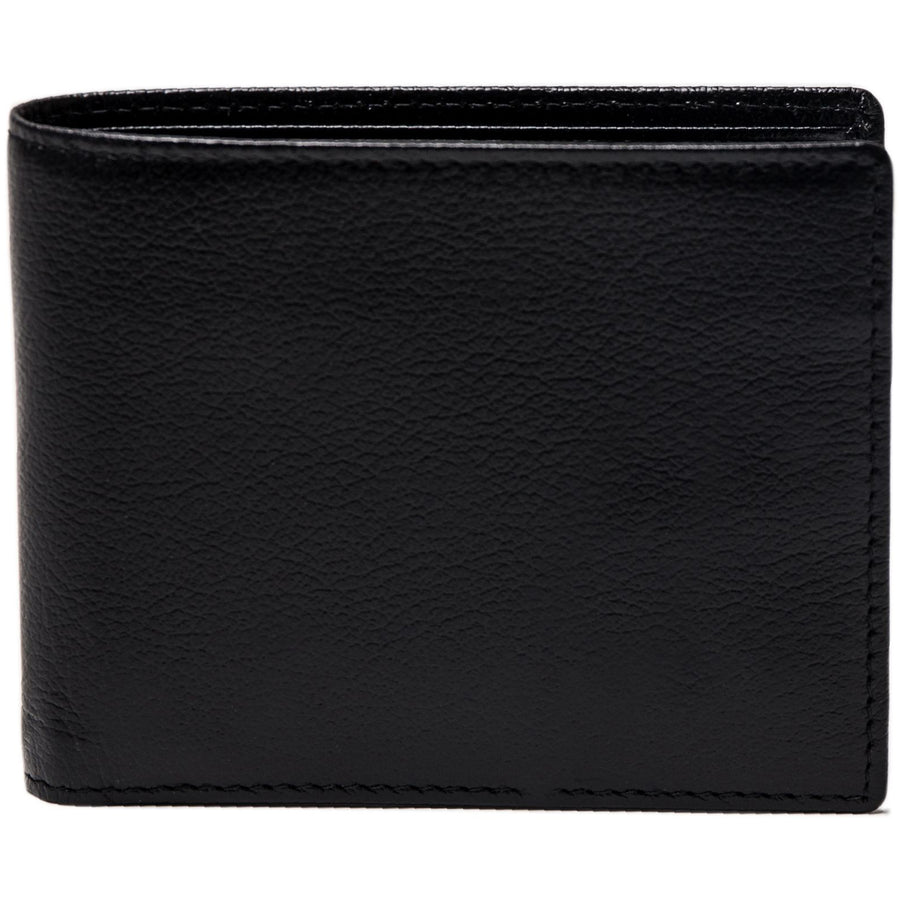 Ettinger Capra Billfold Wallet with 6 Credit Card Slots, Black