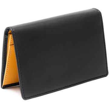 Ettinger Men's Visiting Black Leather Trifold Wallet and Card Case, Grey and London Tan