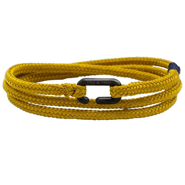 Pig & Hen Men's Rope Bracelet Savage Sam, Mustard