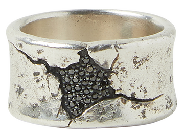 John Varvatos Crack Sterling Silver Ring