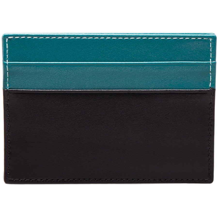 Ettinger Mens Sterling Flat Credit Card Case - Turquoise/Black