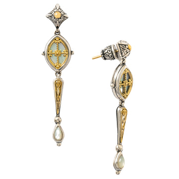 Konstantino Women's Mother of Pearl Dangle Earrings, Silver, Hestia Collection