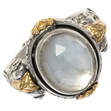 Konstantino Women's Doublet Ring, Light Blue, Hestia Collection