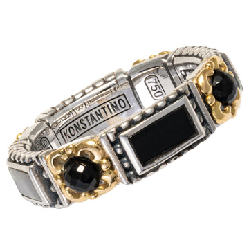 Konstantino Women's Onyx Ring, Black, Calypso Collection