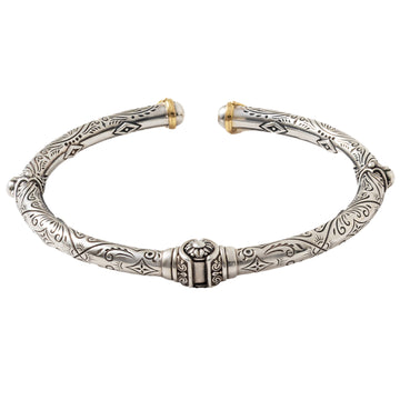 Konstantino Sterling Silver & 18K Gold Bracelet, Delos Collection