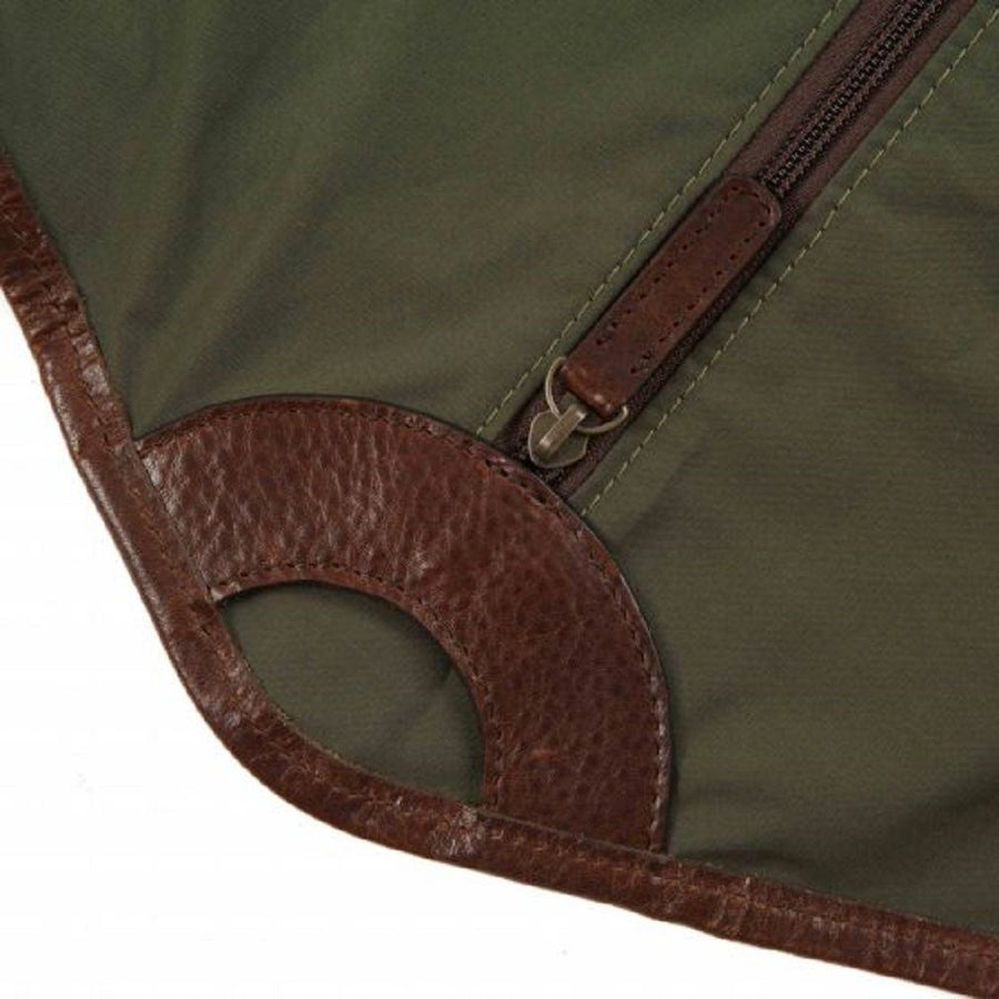 Moore & Giles Holton Garment Sleeve in Ventile Olive Green