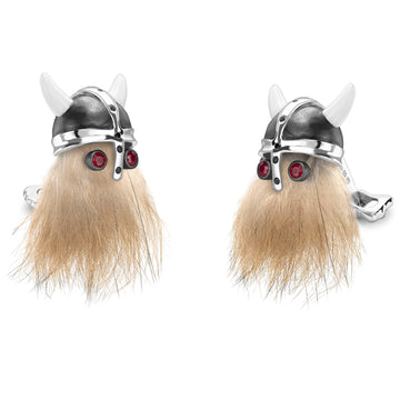 Deakin and Francis Viking Skull Cufflinks